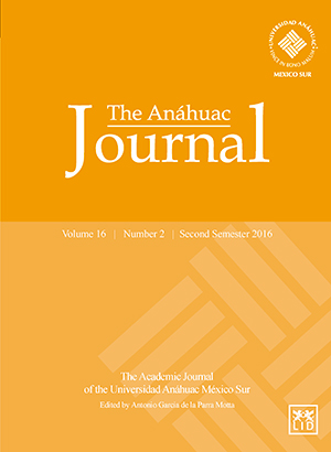 The Anáhuac Journal Vol 16 No 2 Second Semester 2016