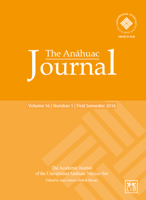The Anáhuac Journal Vol 16 No 1 First Semester 2016