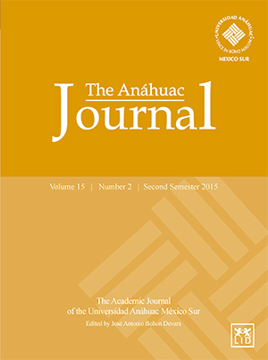 The Anáhuac Journal Vol 15 No 2 Second Semester 2015