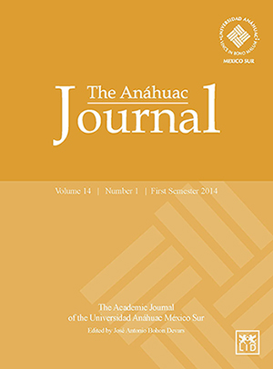 The Anáhuac Journal Vol 14 No 1 First Semester 2014