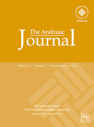 The Anáhuac Journal (Second Semester 2012)