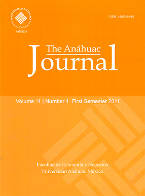 The Anáhuac Journal Vol 11 No 1 First Semester 2011